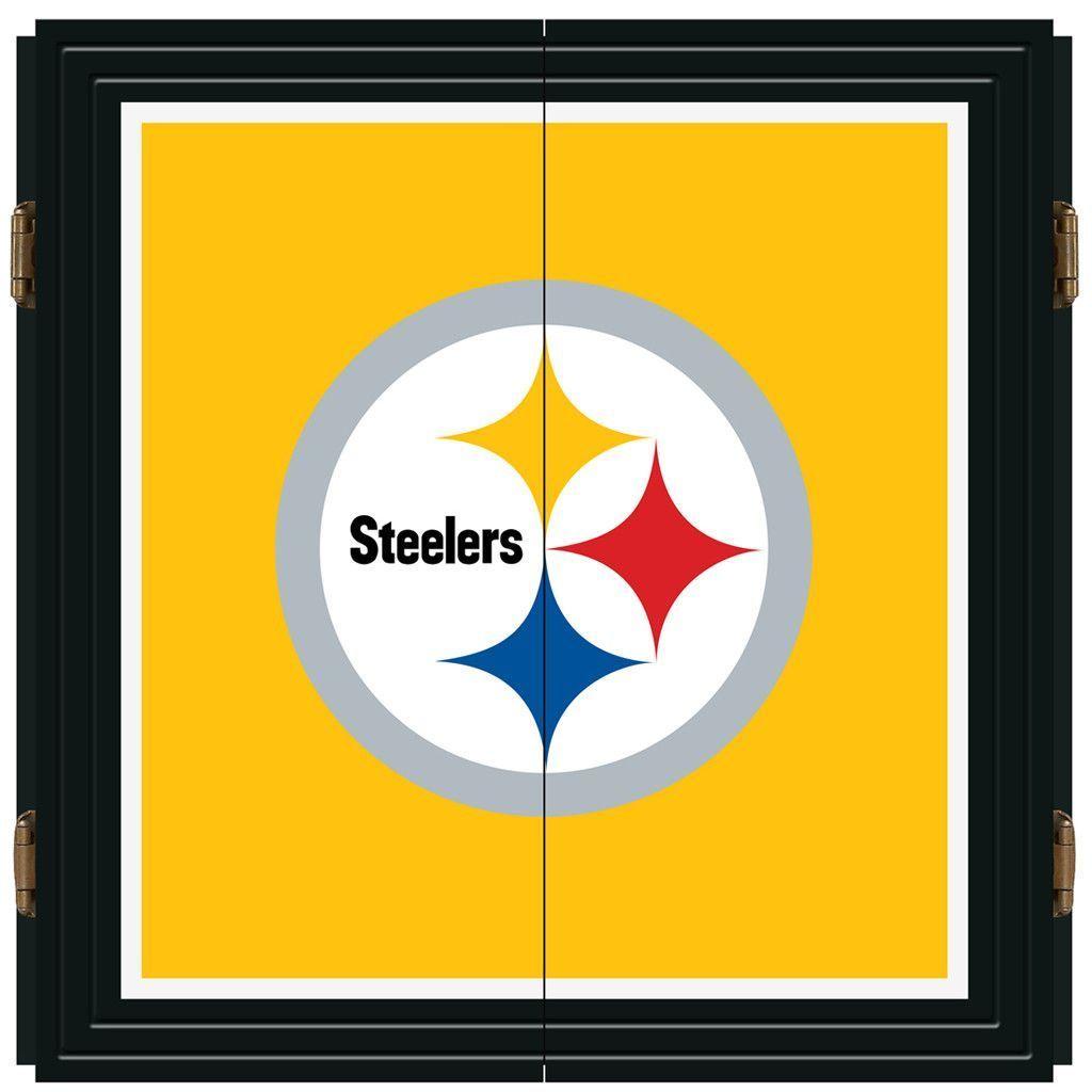 Pittsburgh Steelers Dart Board W Gloss