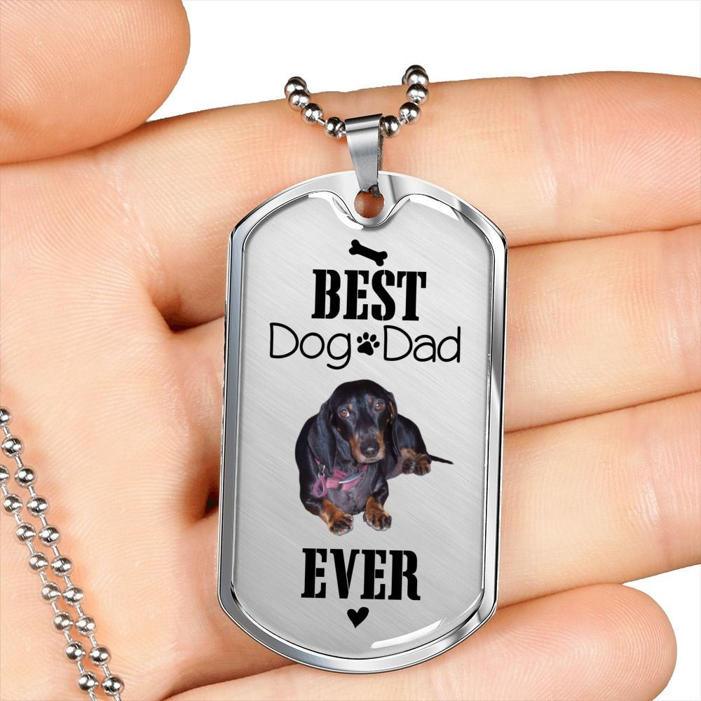 Dachshund dog dad gift idea for fathers day from son