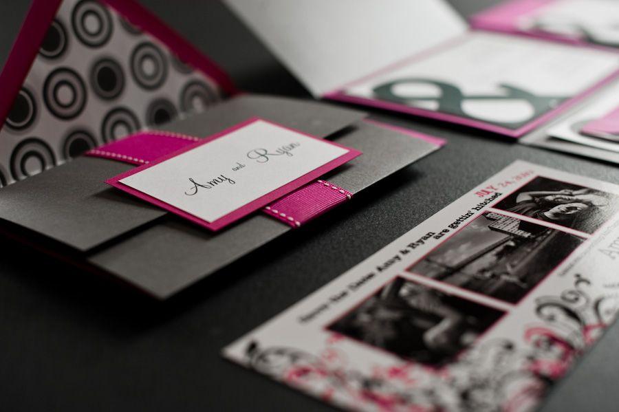 Amy and Ryan\'s Ampersand Wedding Invitations   Pink wedding ...