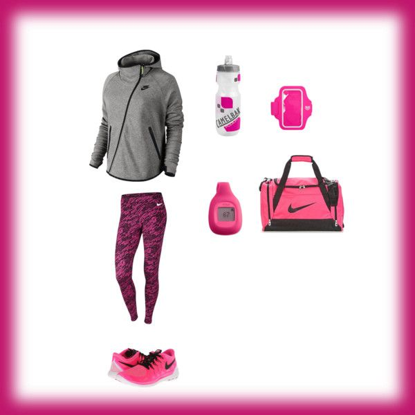 Exercise by smith-emily-1 on Polyvore featuring NIKE, Fitbit, Forever 21 and CamelBak