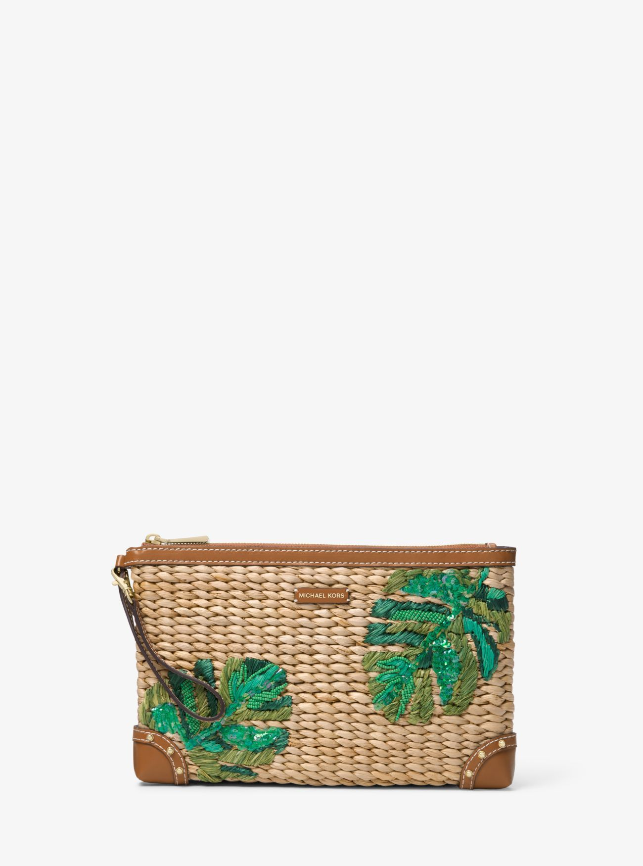 e5ded7d166a0 Malibu Extra-Large Palm Embroidered Straw Clutch | bags 2 ...