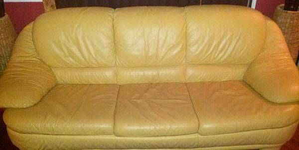 Natuzzi Beige Peach Color Leather Couch Leather Couch Natuzzi