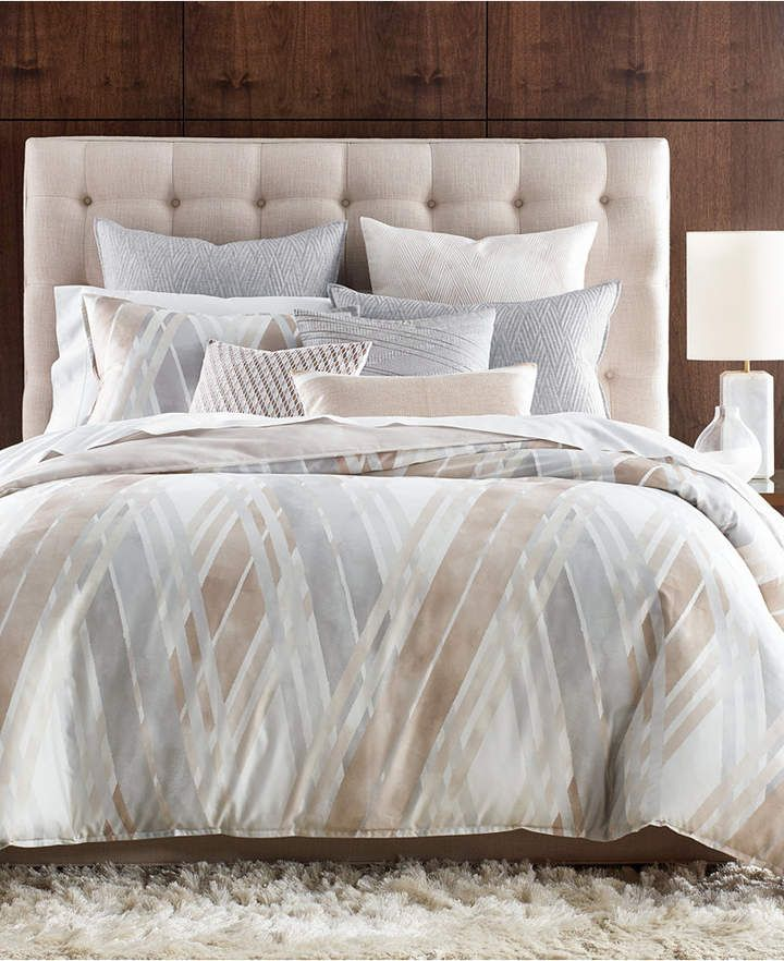 Hotel Collection Lateral Cotton 400 Thread Count King Duvet Cover Created For Macy S Bedding Hotel Collection Bedding Hotel Collection Mattress Furniture