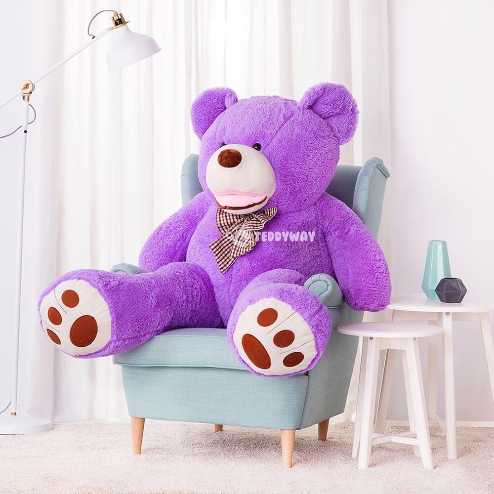 Purple Giant Teddy Bear 160 Cm 63 Inch Bobo Teddyway Giant Teddy Giant Teddy Bear Big Teddy Bear [ 1000 x 1000 Pixel ]