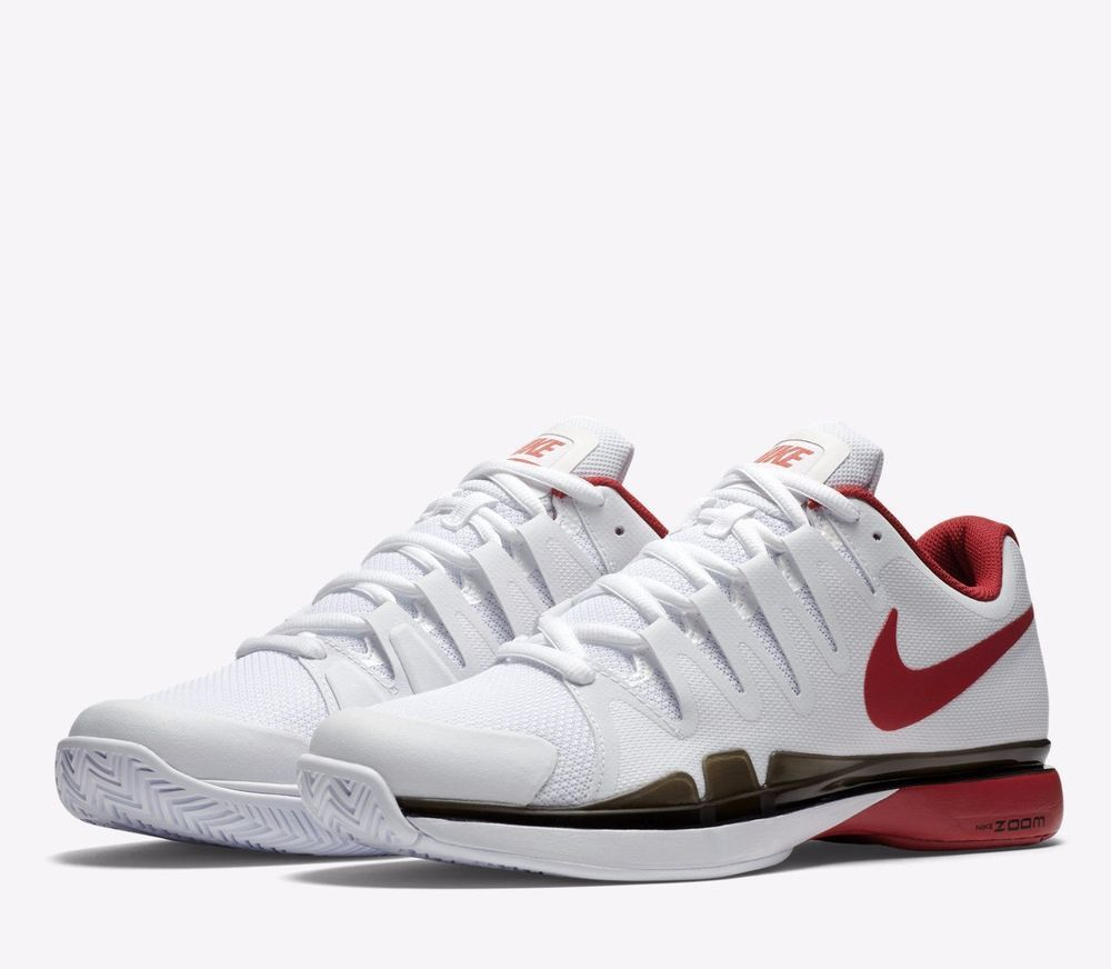 Nike Zoom Vapor 9.5 Tour Mens Tennis Shoes 9 White Red Black