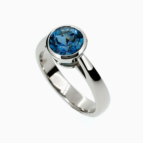 Cathedral Ring with London Blue Topaz
