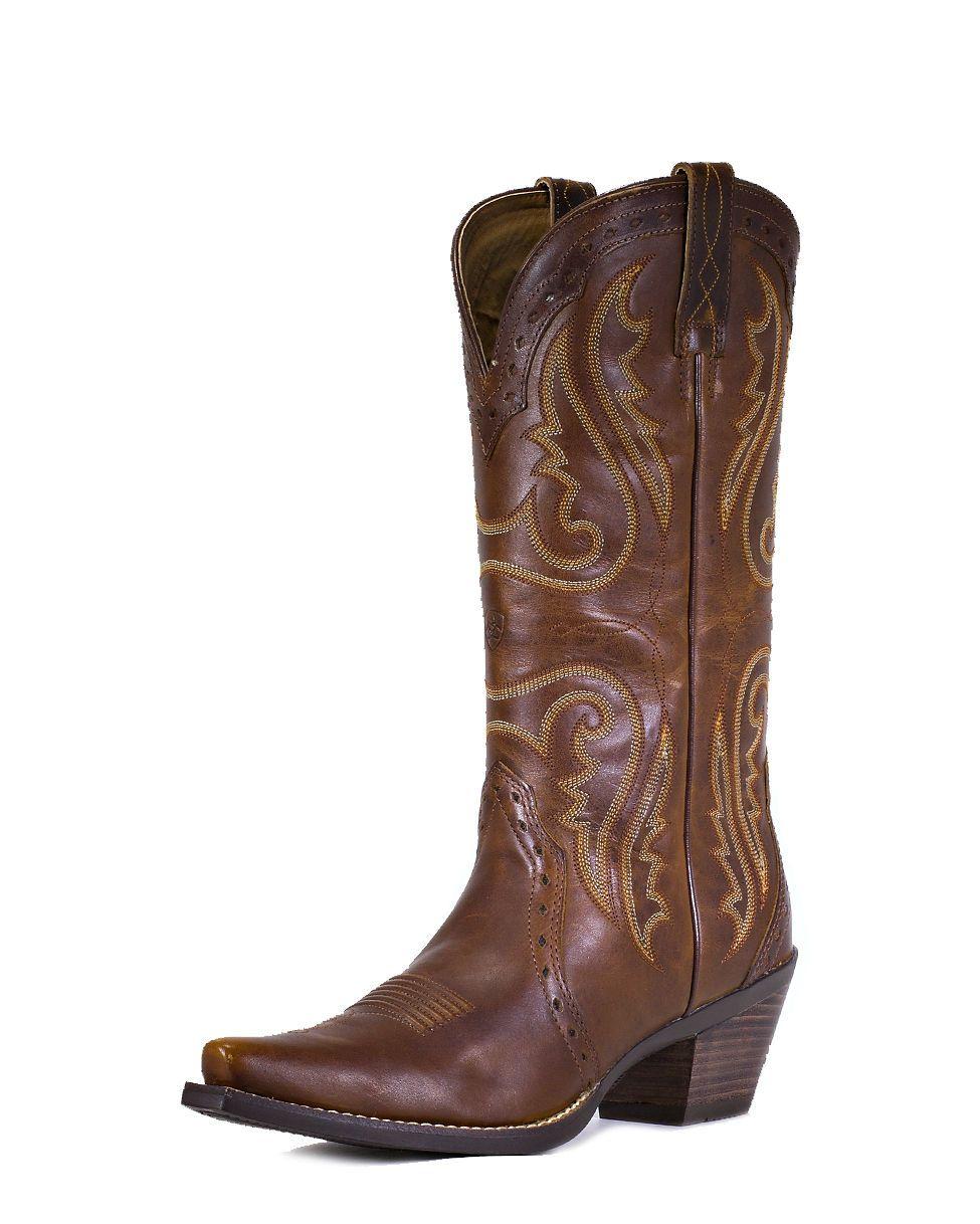 694dd702561db Ariat Women's Heritage Western X Toe Boot - Vintage Caramel, size 8 ...