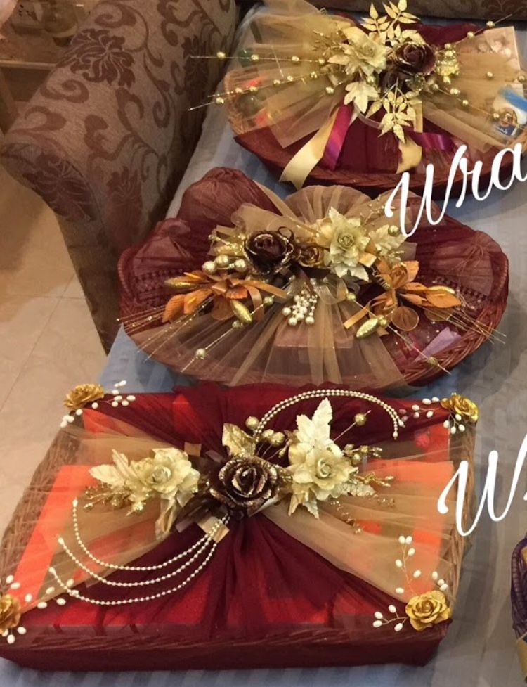 Pin By Fathima Elma On Gift Packing Ideas Wedding Gifts Packaging Wedding Gift Pack Wedding Gifts