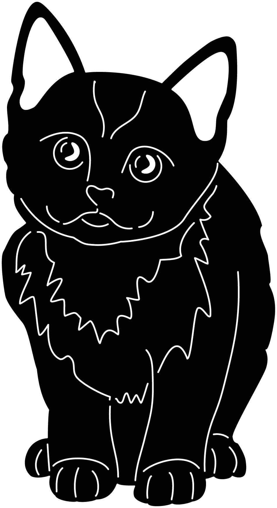 Small Kitten Free DXF file Small kittens, Cnc design