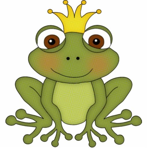 Fairy Tale Frog Prince With Crown Cutout Zazzle Com Frosch Zeichnung Marchen Basteln Froschkonig