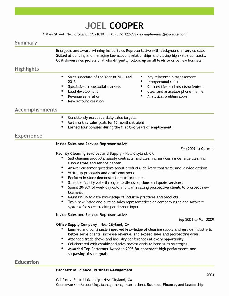 50 Awesome Inside Sales Resume Sample in 2020 (With images