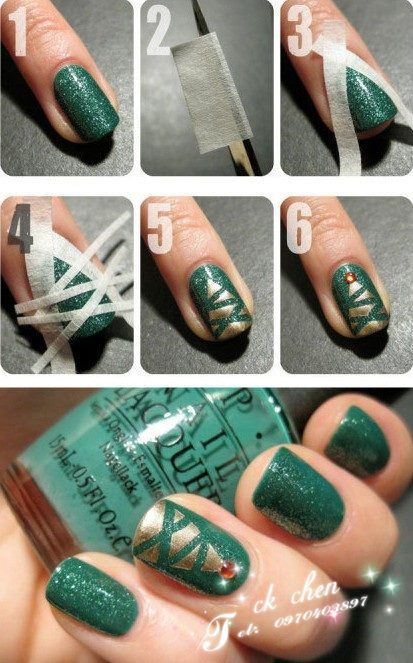 Opposite Christmas Tree Tree Nails Christmas Tree Nails Tree Nail Art