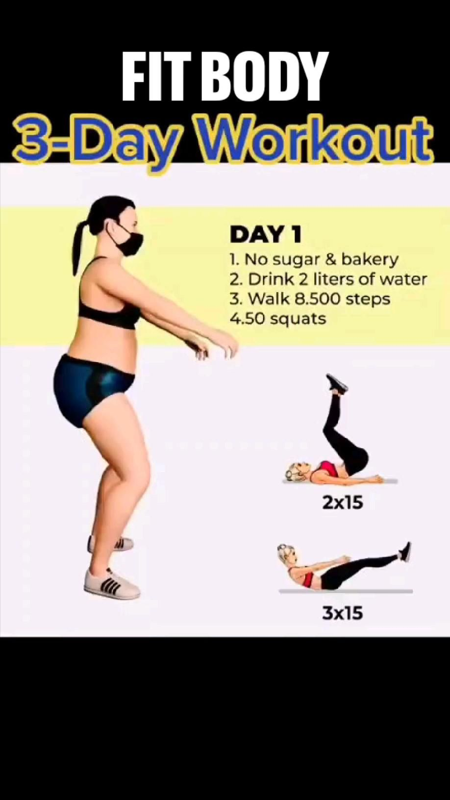 Fully Transform Your Body ... 3- Day Workout