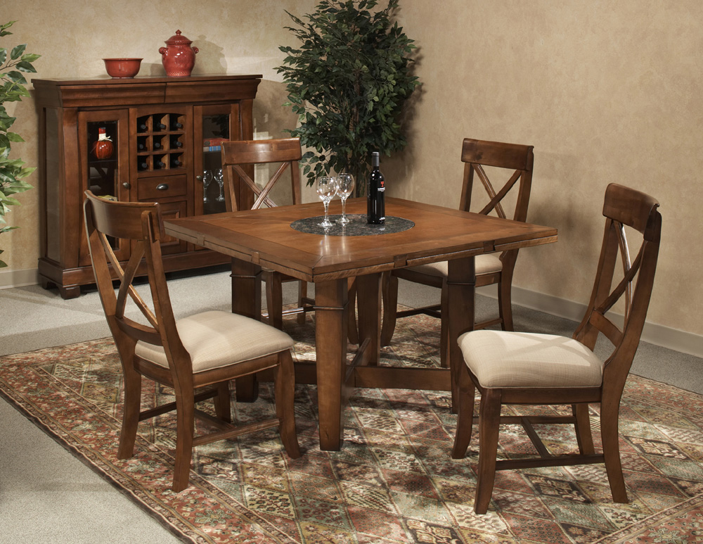 Verona Square Round Leg Table Dining Room Set By Intercon