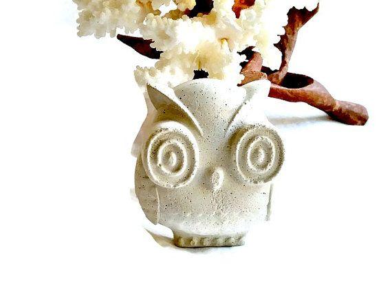 Baby Owl Concrete Baby Owl Owl Paper Weight White Owl 400 x 300