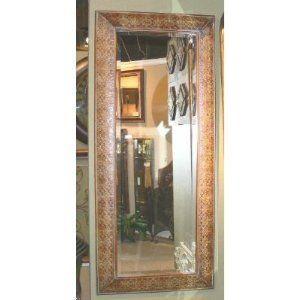 Ornate Full Length Embossed Copper Mirror Large Wall or Floor ...