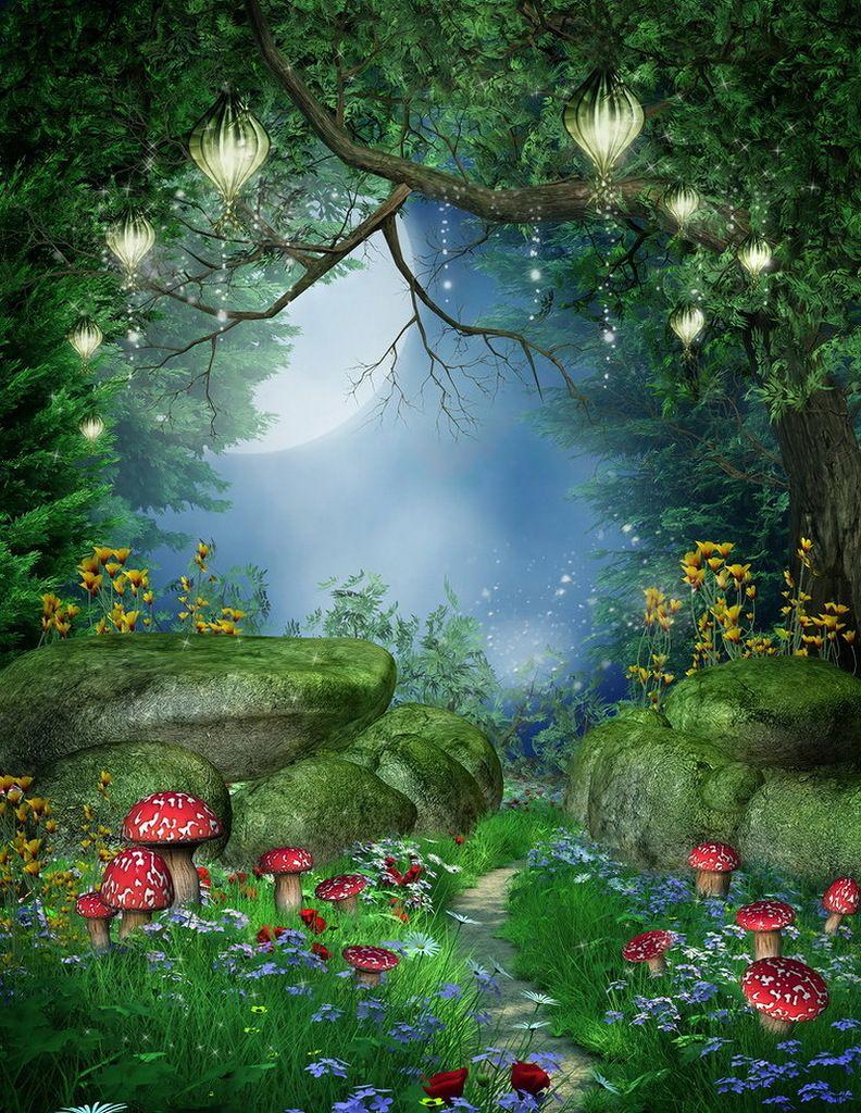 Картинка сказочный лес анимация картинки, лет женщине