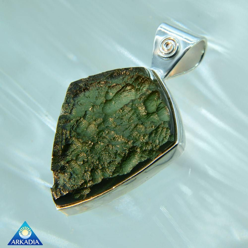 Diamond shaped silver moldavite pendant sw582 by arkadiancollection diamond shaped silver moldavite pendant sw582 by arkadiancollection on etsy aloadofball Images