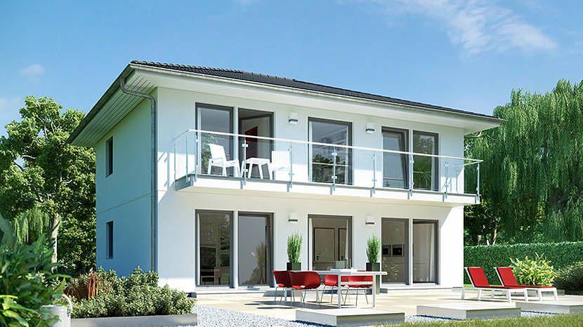 stadtvilla mit gro em balkon e 20 148 4 schw rerhaus. Black Bedroom Furniture Sets. Home Design Ideas