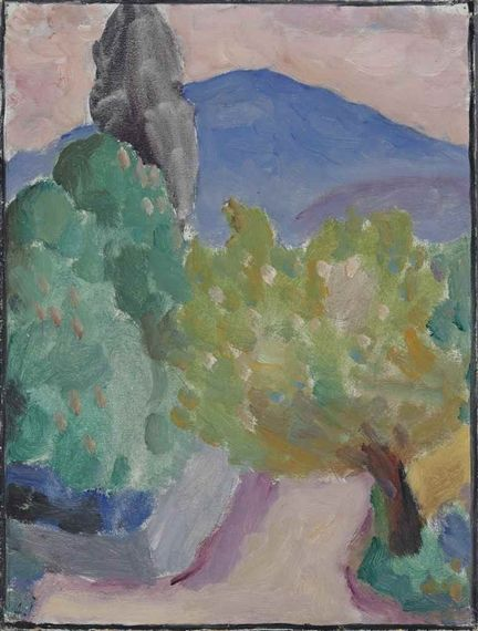 Artwork by Alexej von Jawlensky, Blauer Berg, St Prex, Made of oil on linen-finish paper laid down on Perspex board