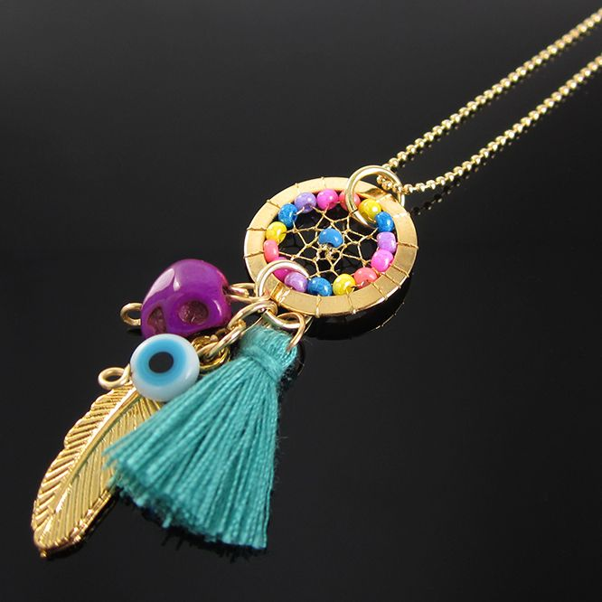 7668ca914080 Collares Mujer Atrapasueños Cadena Oro GoldFilled Lindas Joyas ...