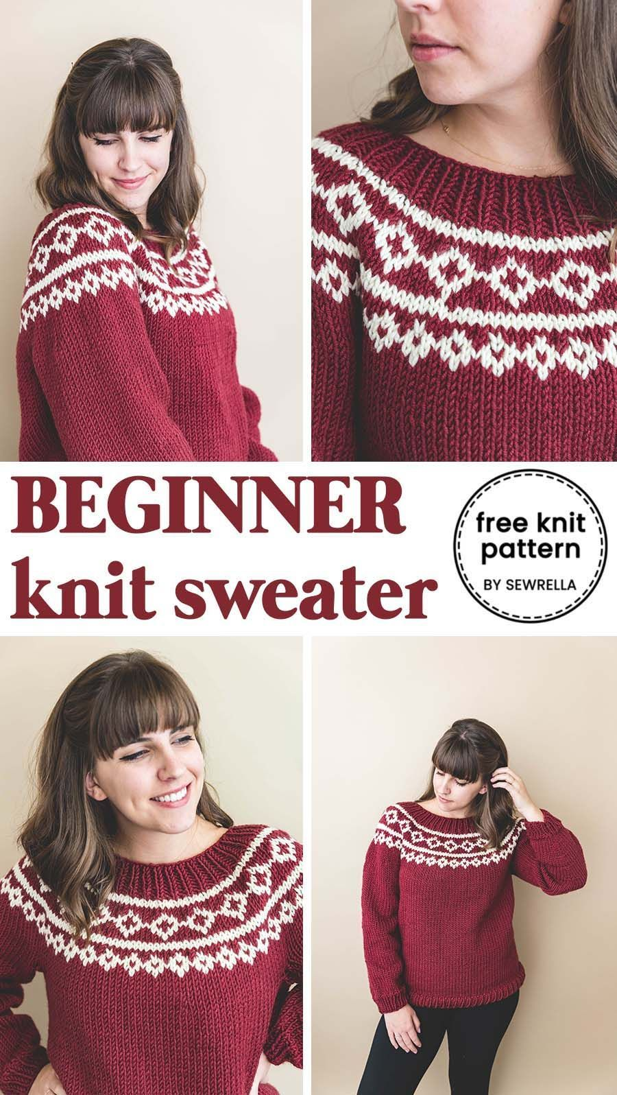 Photo of My First Holiday Knit Sweater! • Sewrella