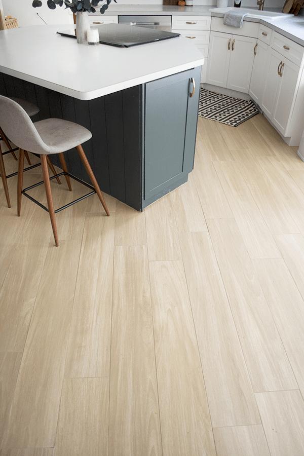 Our New Wood Look Tile Floors Flooring