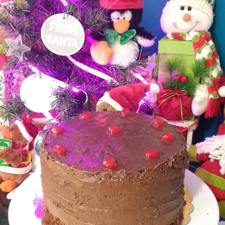torta de chocolate de Navidad
