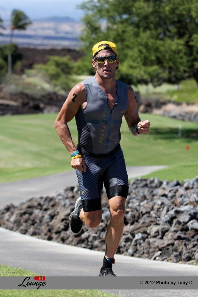 Lance Armstrong Runs To Victory And Sets A New Course Record At