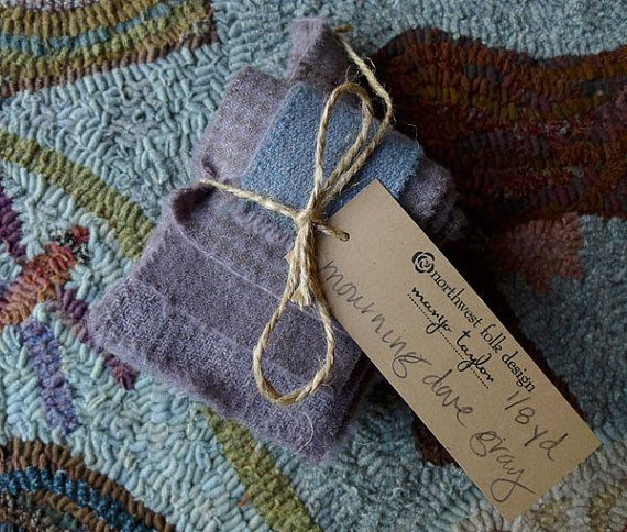 Mourning Dove Gray  Hand Dyed Wool  1/8 Yard Bundle