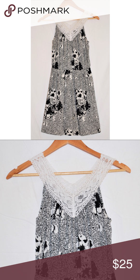 Topshop black and white floral a line dress us 4 topshop lace topshop black and white floral a line dress us 4 mightylinksfo