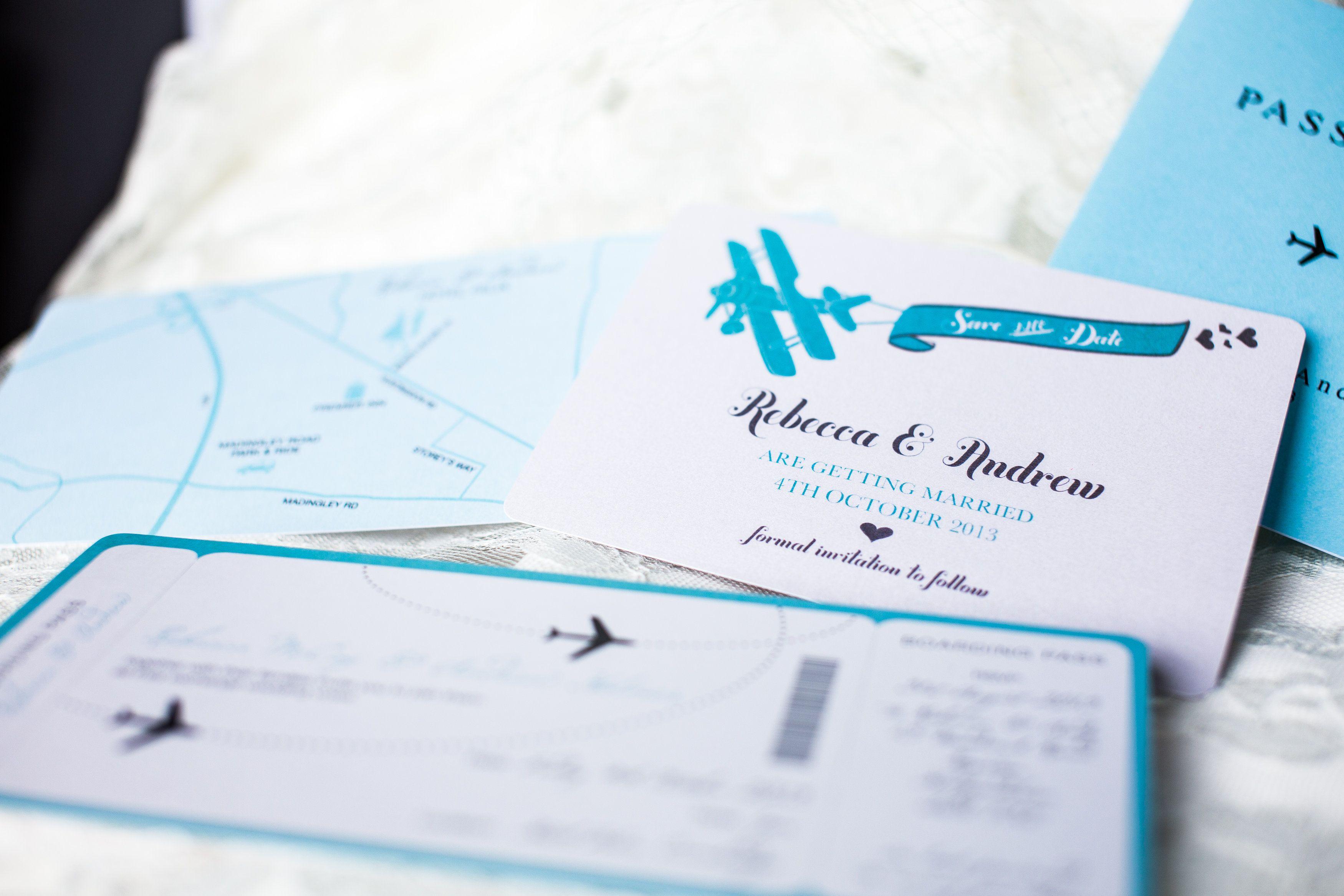 Travel themed wedding invitations and stationery www.samandlouise.co ...