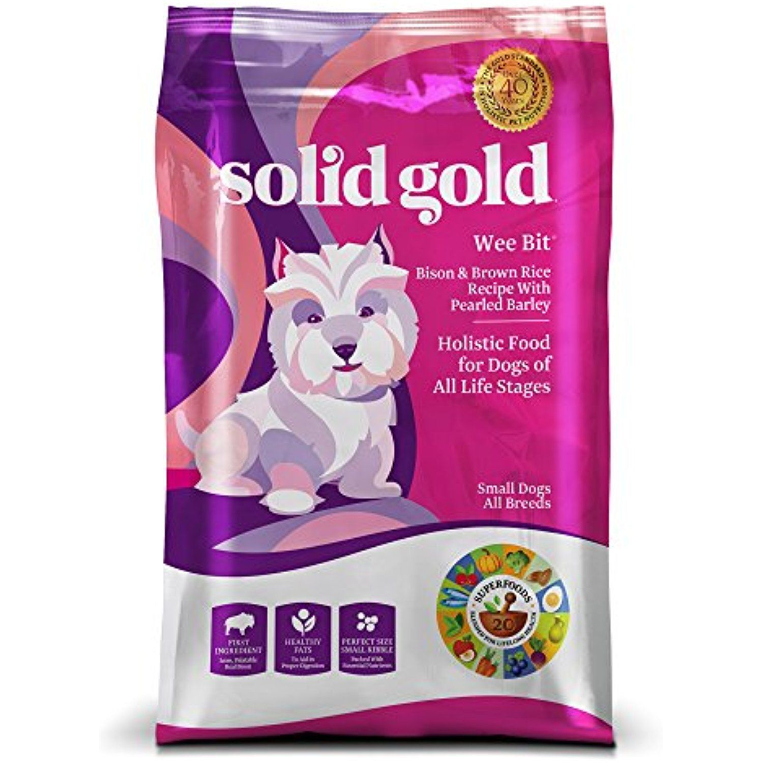 Solid Gold Wee Bit Holistic Dry Dog Food Bison Brown Rice With
