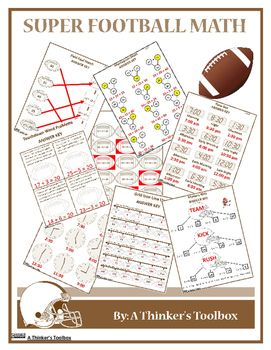 Super Football Math Math Math Worksheets Math Resources