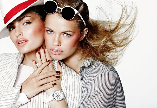 Alyssa Miller and Hailey Clauson by Mario Testino for Allure March 2014