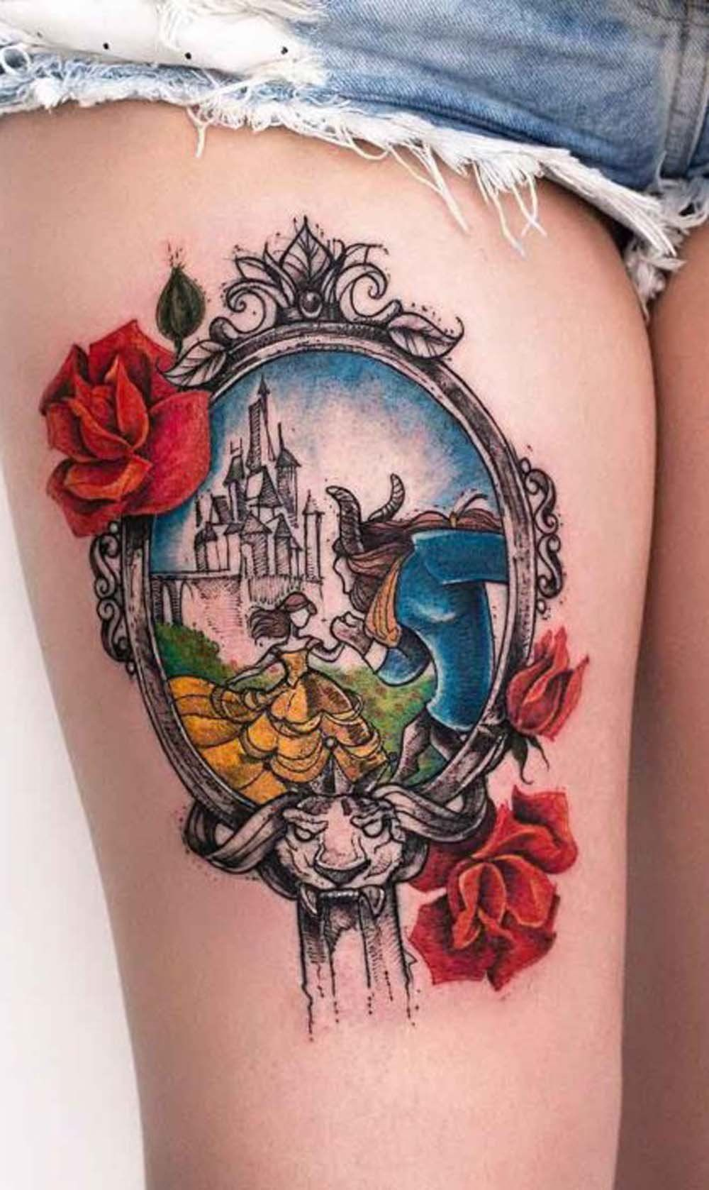Beauty And The Beast Unique Couple Tattoos: Pin On Tattoo Inspo