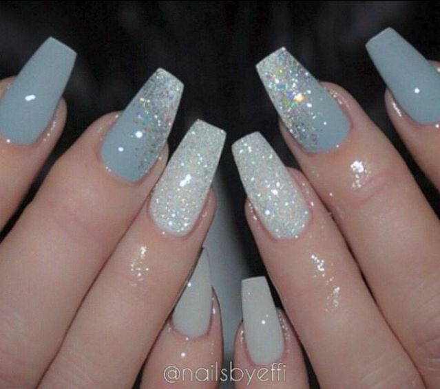 Pin By Helen Redington On Beauty Body Blue Acrylic Nails Blue