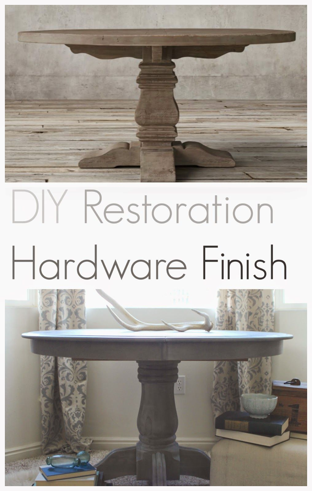 Diy Restoration Hardware Finish With Weatherwood Stains