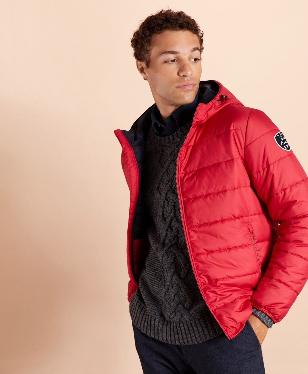 Quilted Hooded Puffer Jacket Brooks Brothers In 2021 Red Puffer Jacket Puffer Jackets Jackets [ 1243 x 1024 Pixel ]