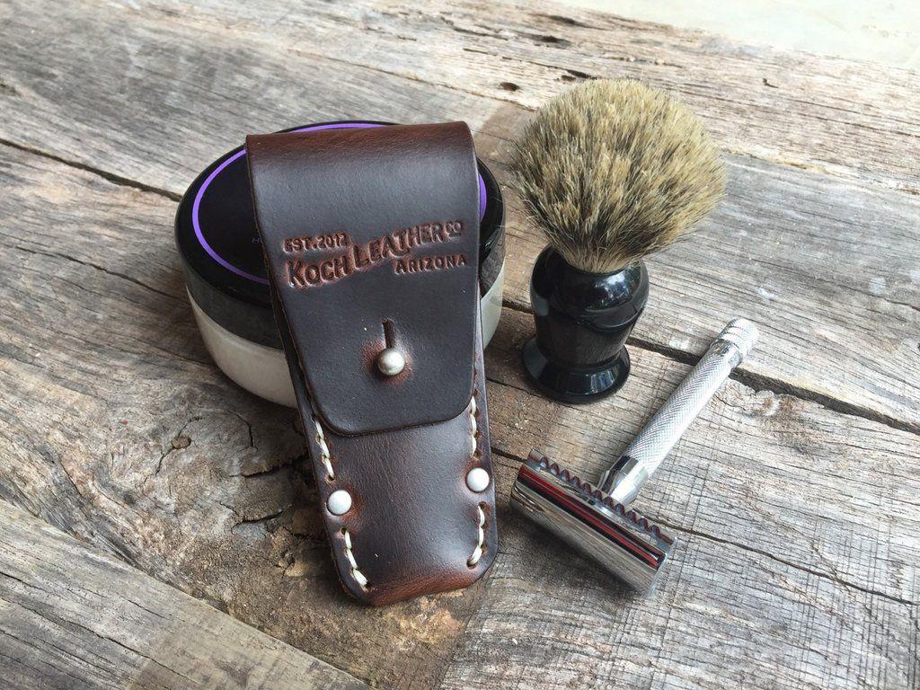 Horween DE Safety Razor Holster Safety razor, Shaving