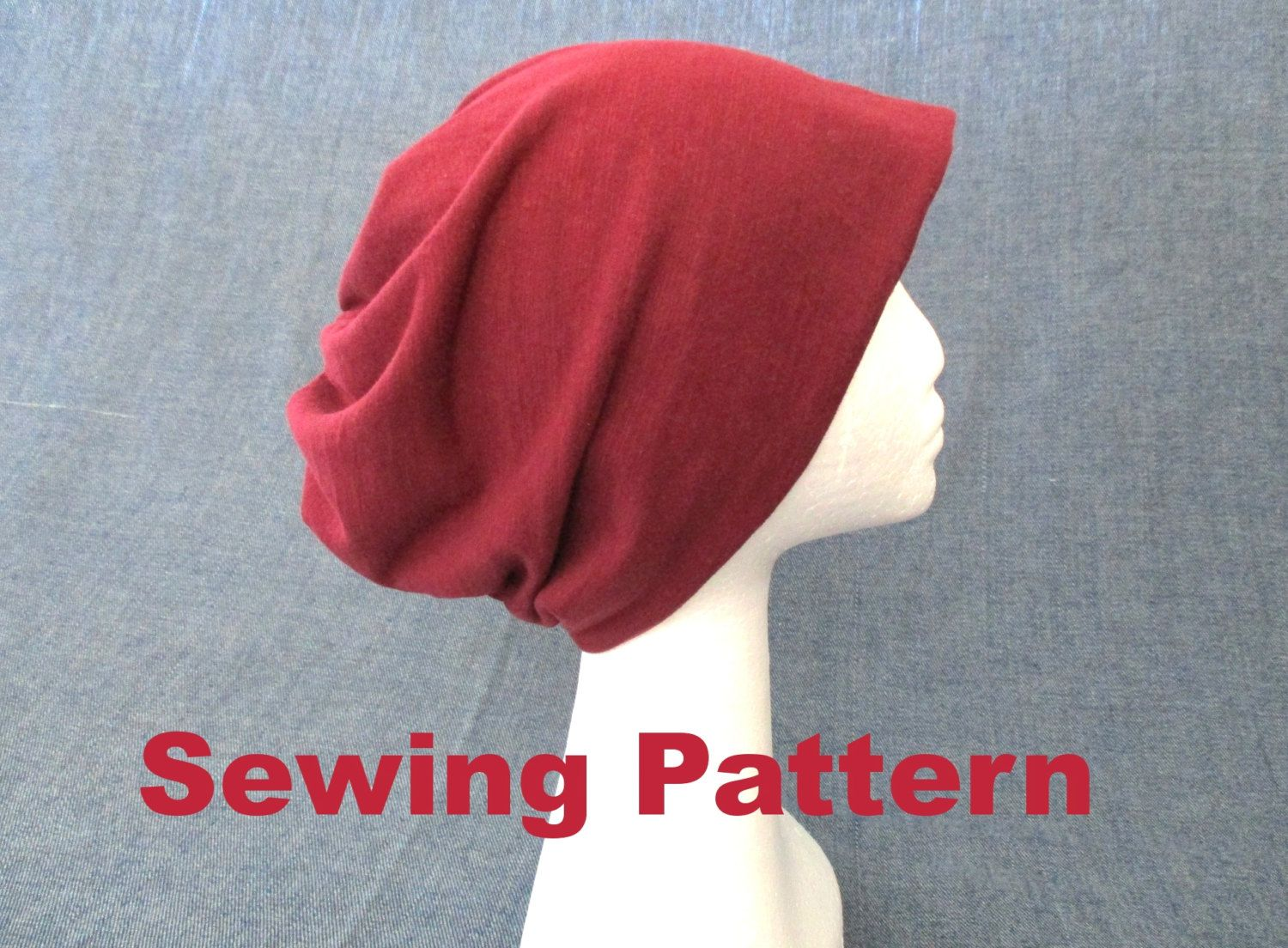 slouchy beanie hat sewing pattern, unisex beanie pattern, baggy beanie  pattern… 102dfee5635