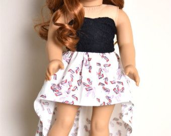 High low Skirt American Girl doll Clothes von EliteDollWorld