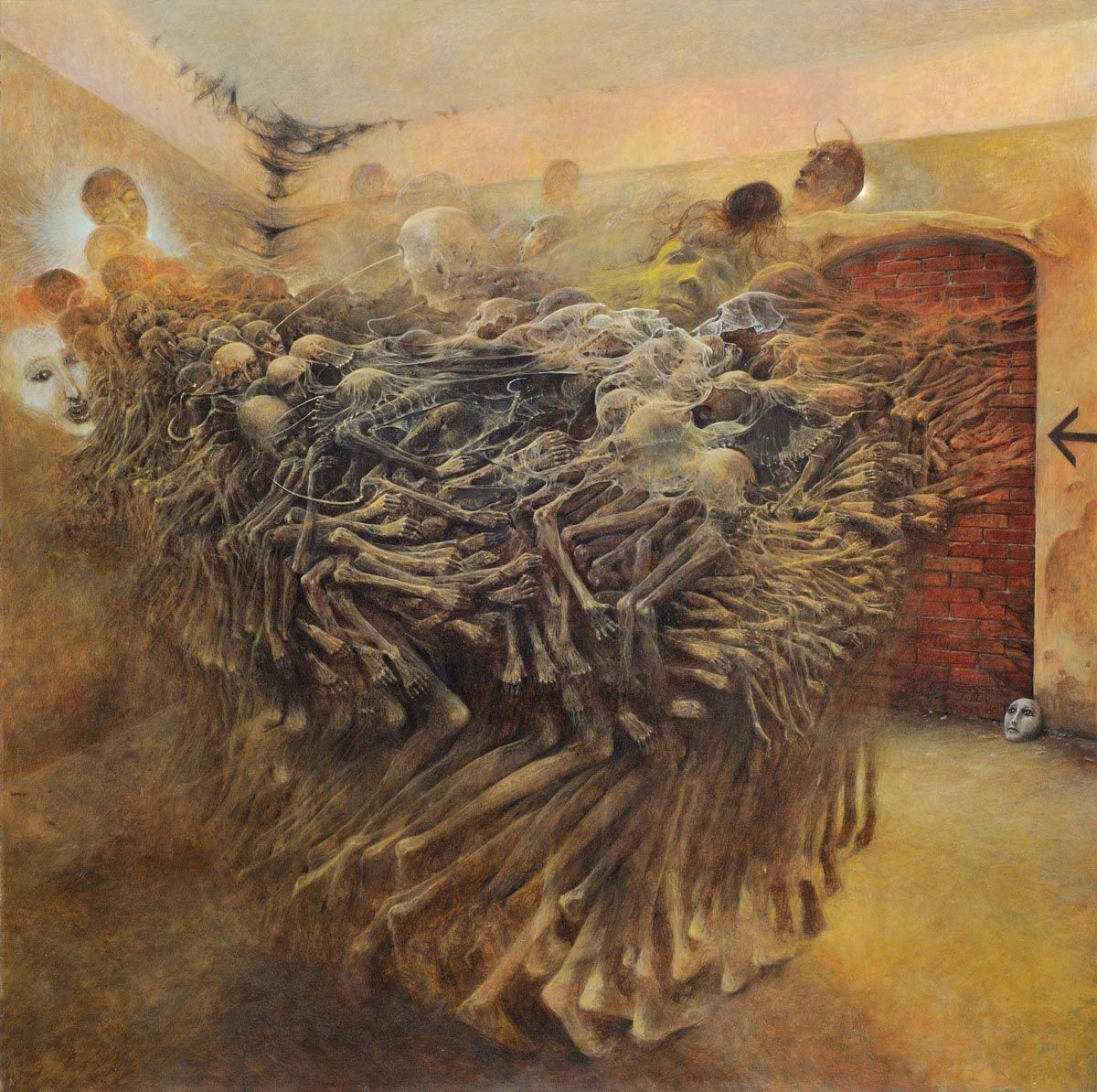 Reproduction of Zdzislaw Beksinski/'s painting High quality Print on canvas