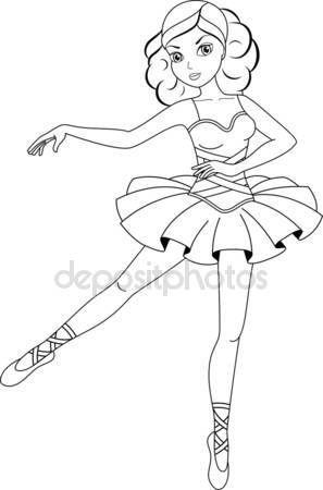 Pin By Gulay Ustev On Boyama Sayfalari Ballerina Coloring Pages