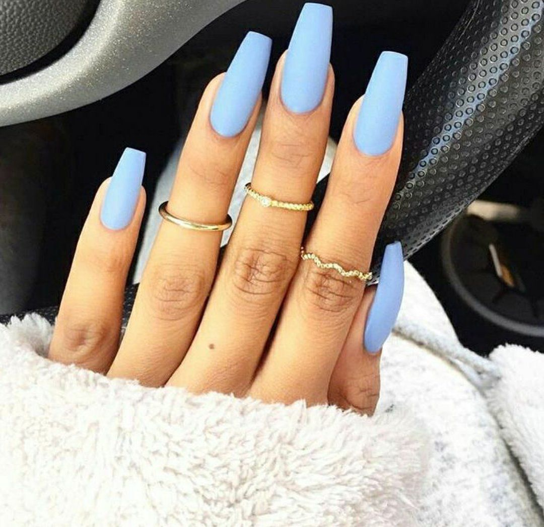 Makeup & Nails ღ on | Pinterest | Baby blue nails, Blue nails and ...