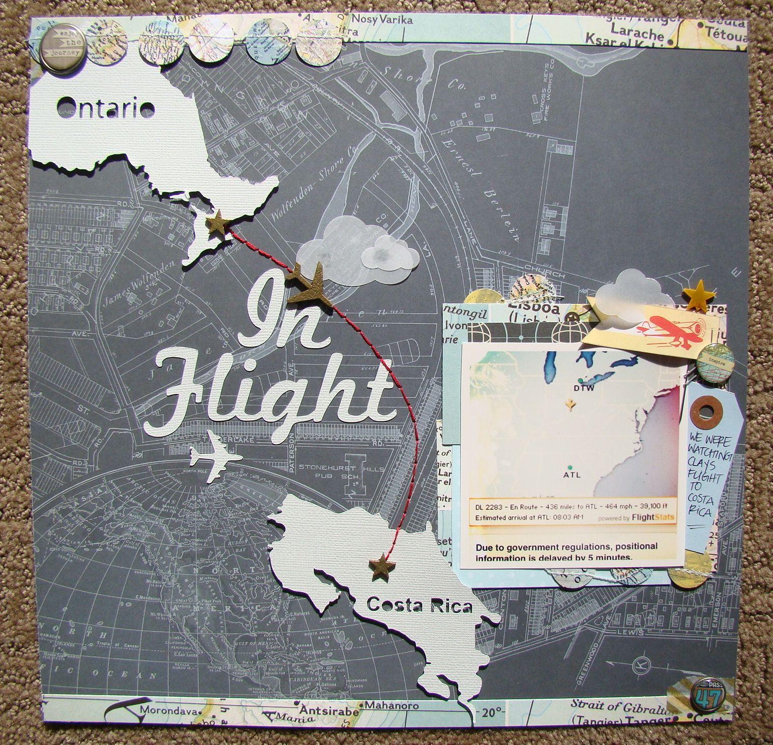 Scrapbook ideas hawaii -  In Flight Travel Scrapbook Page By Studio Calico
