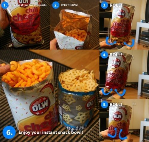 Enjoy your chips without dumping them into a bowl.