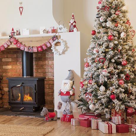 Homespun - Traditional Christmas decorations - Homebase ...