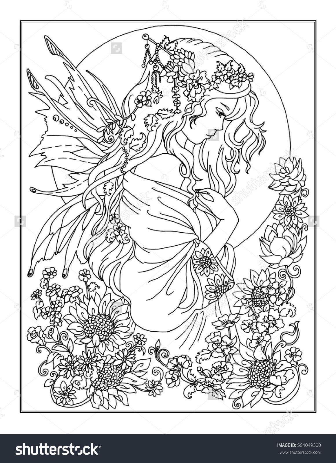 Coloring page The Fairy | Bosquejos Extraordinarios | Pinterest ...