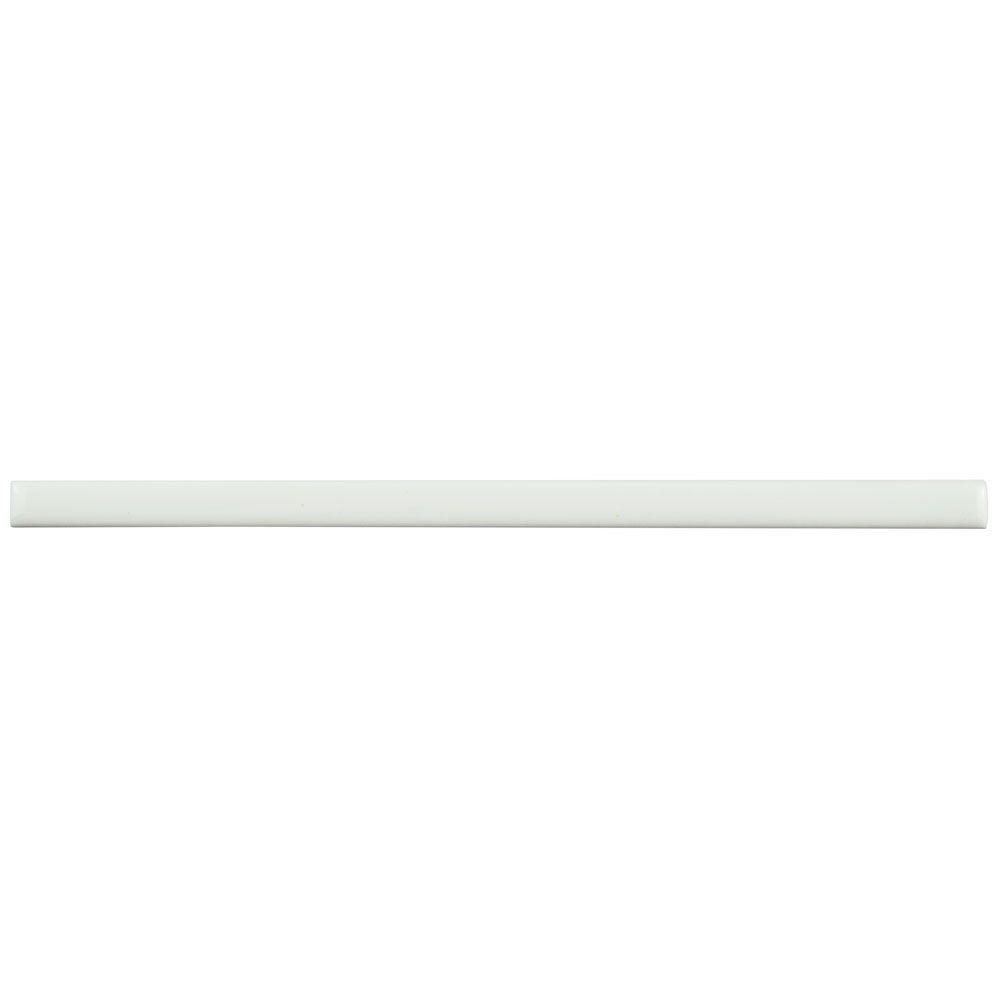 Merola Tile Blanco 3 8 In X 7 7 8 In Ceramic Listelo Liner Wall Trim Tile Wcvrgbll The Home Depot Wall Trim Tile Trim Merola Tile